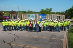 We worked with a Aung Prairie family in a Habitat for Humanity panel build in June 2014.