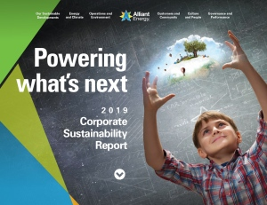 2019 Alliant Energy Sustainability Report homepage